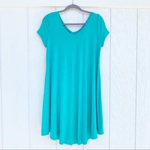 Fashionomics Teal Blue T-Shirt Dress